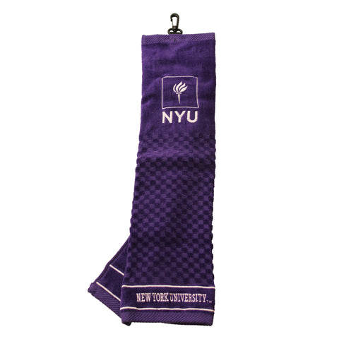 New York Violets Embroidered Golf Towel