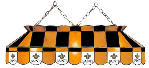 New Orleans Saints 40 inch Stained Glass Pool Table Light by Imperial