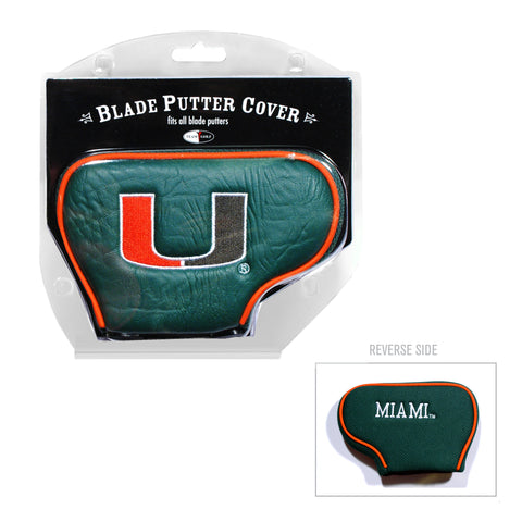 Miami Hurricanes Golf Blade Putter Cover
