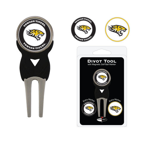 Towson Tigers Divot Tool Pack With 3 Golf Ball Markers