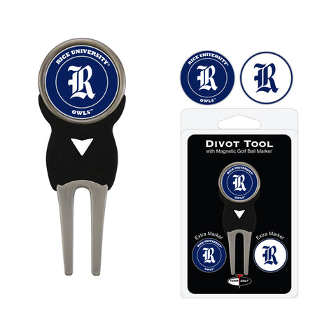 Rice University Owls Divot Tool Pack With 3 Golf Ball Markers