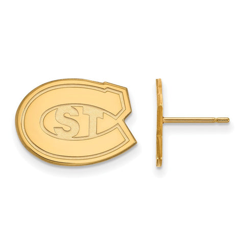 St. Cloud State Huskies Small Post Earring 14k Yellow Gold