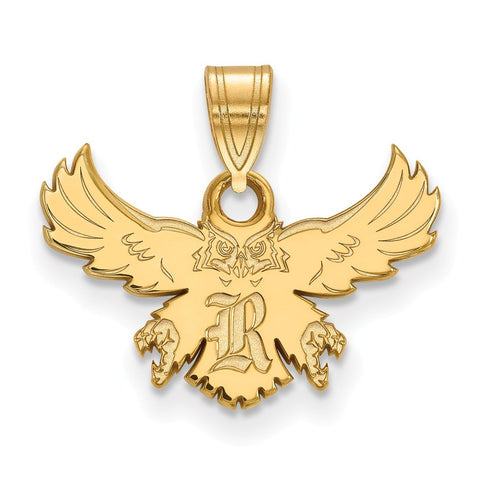 Rice Owls Small Pendant 14k Yellow Gold