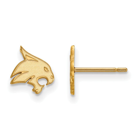 Texas State Bobcats XS Post Earring 14k Yellow Gold