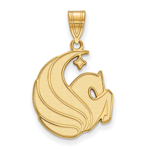 UCF Knights Large Pendant 14k Yellow Gold