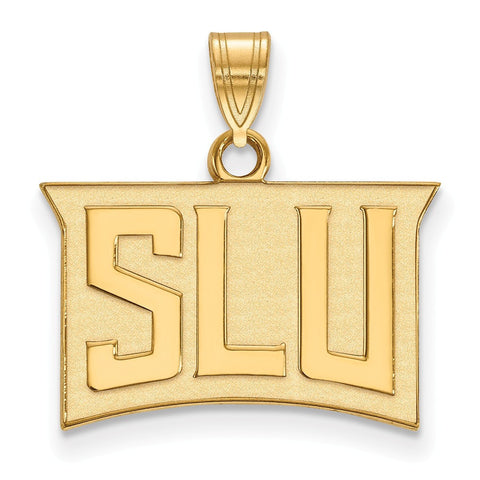 St. Louis Billikens Small Pendant 14k Gold Plate