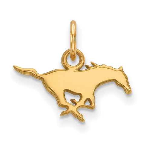 SMU Mustangs XS Charm 14k Gold Plate