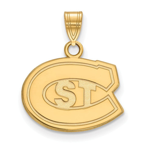 St. Cloud State Huskies Small Pendant 14k Gold Plate