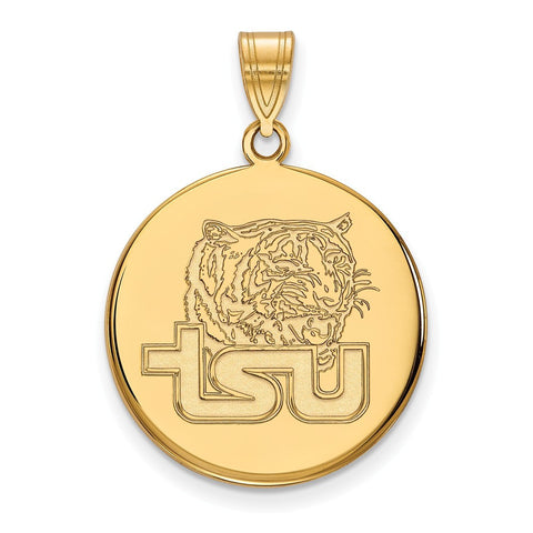 Tennessee State Large Enamel Disc Pendant 14k Gold Plate
