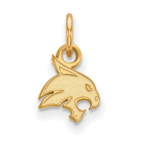 Texas State Bobcats XS Charm 14k Gold Plate