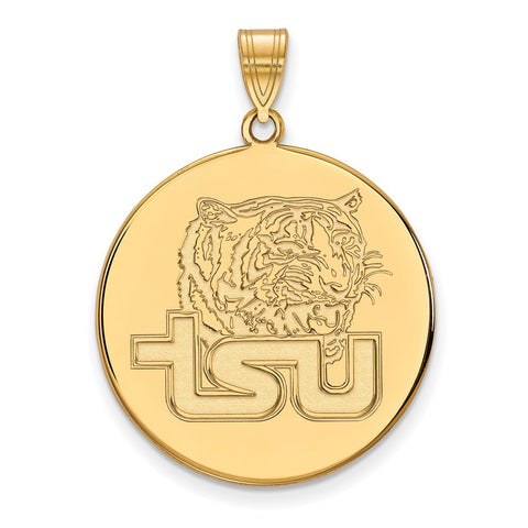 Tennessee State XL Disc Pendant 10k Yellow Gold