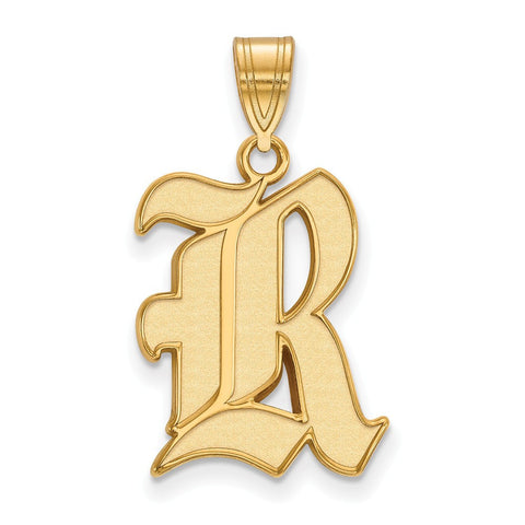 Rice Owls Large Pendant 14k Gold Plate