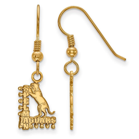 Spelman College Jaguars Small Dangle Earring Wire 14k Gold Plate