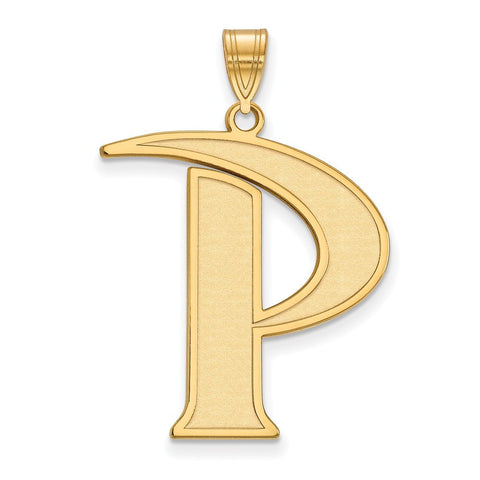 Pepperdine Waves XL Pendant 14k Gold Plate