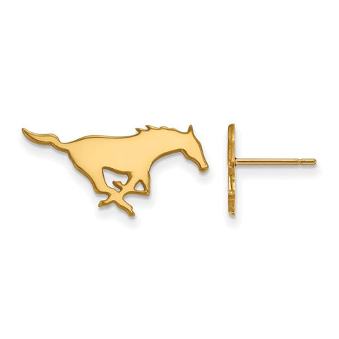 SMU Mustangs Small Post Earring 14k Gold Plate