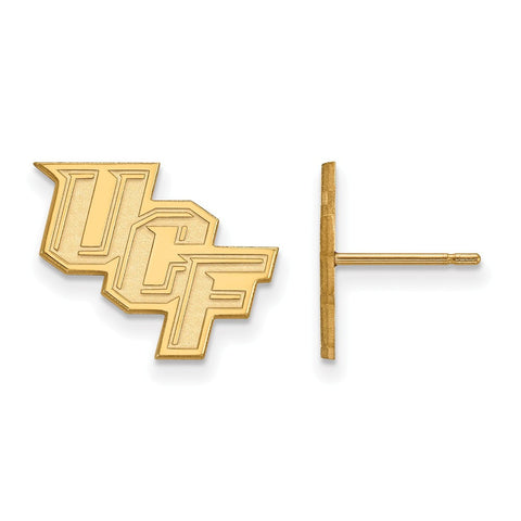 UCF Knights Small Post Earring 14k Gold Plate
