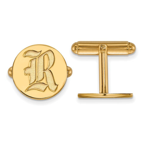 Rice Owls Cufflinks 14k Gold Plate
