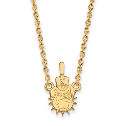 The Citadel Large Pendant Necklace 14k Gold Plate