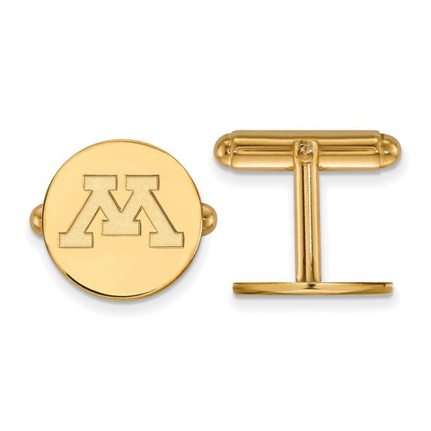 Minnesota Golden Gophers Cufflinks 14k Gold Plate