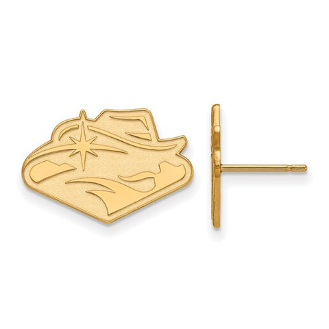 UNLV Rebels Small Post Earring 14k Gold Plate