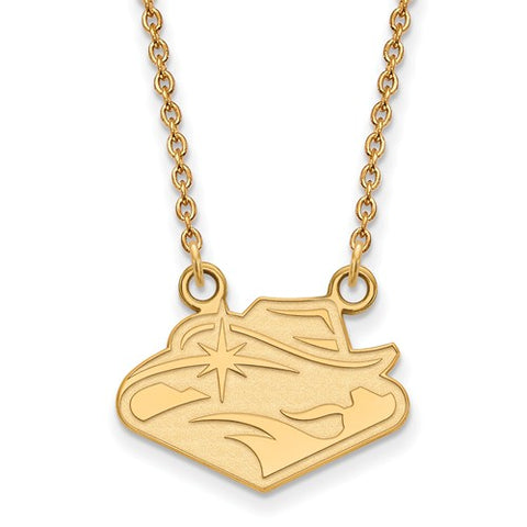 UNLV Rebels Small Pendant Necklace 14k Gold Plate