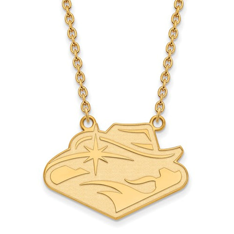 UNLV Rebels Large Pendant Necklace 14k Gold Plate