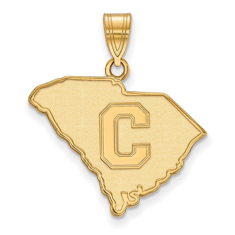 The Citadel Large Pendant 10k Yellow Gold