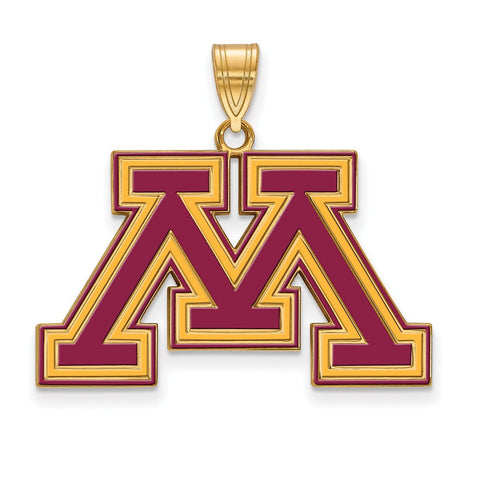 Minnesota Golden Gophers Large Enamel Pendant