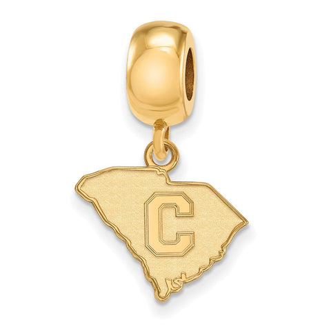 The Citadel Bead Charm Small Dangle 14k Gold Plate