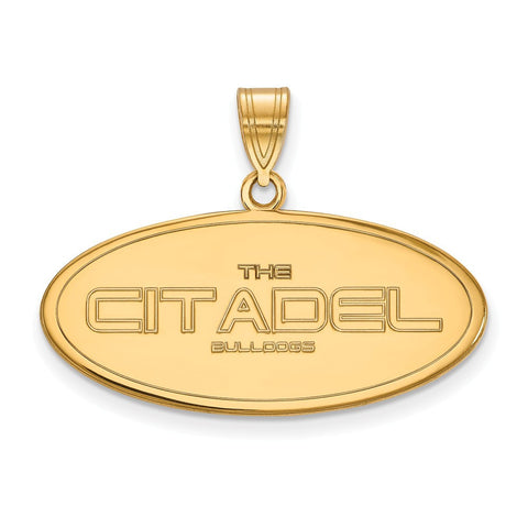 The Citadel Large Pendant 14k Gold Plate
