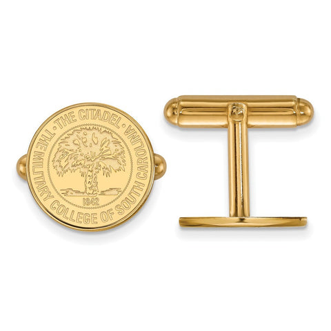 The Citadel Crest Cufflinks 14k Gold Plate