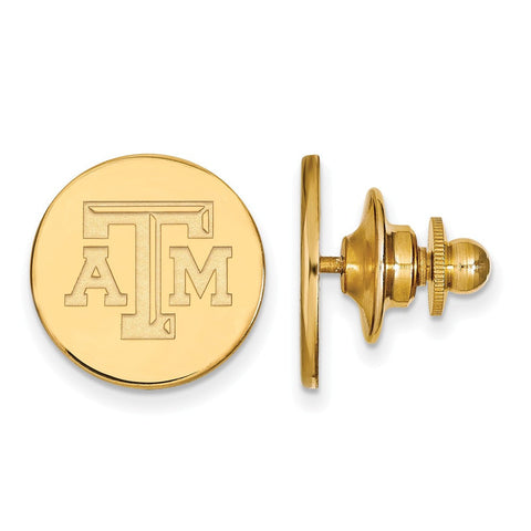 Texas A&M Aggies Lapel Pin 14k Gold Plate