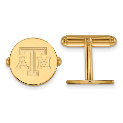 Texas A&M Aggies Cufflinks 14k Gold Plate