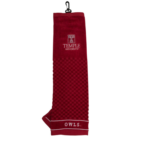 Temple Owls Embroidered Golf Towel