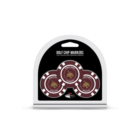 Texas State Bobcats 3 Pack Golf Chip Ball Markers