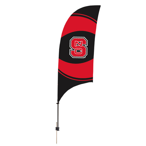 North Carolina State Wolfpack 7.5 Ft. Razor Feather Flag With Spike Base 003