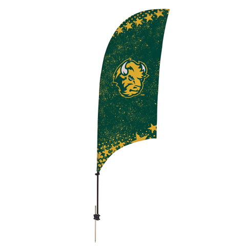 North Dakota State Bison 7.5 Ft. Razor Feather Flag With Spike Base 001