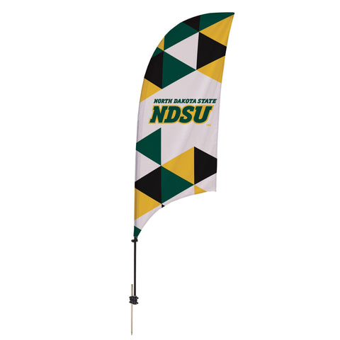 North Dakota State Bison 7.5 Ft. Razor Feather Flag With Spike Base 003