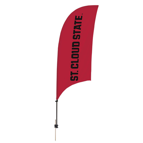 St. Cloud State Huskies 7.5 Ft. Razor Feather Flag With Spike Base 002