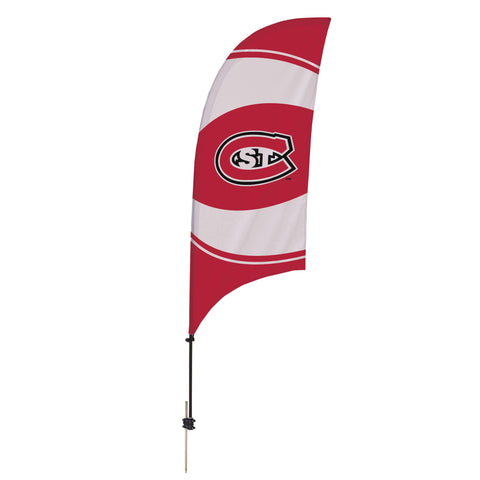 St. Cloud State Huskies 7.5 Ft. Razor Feather Flag With Spike Base 003