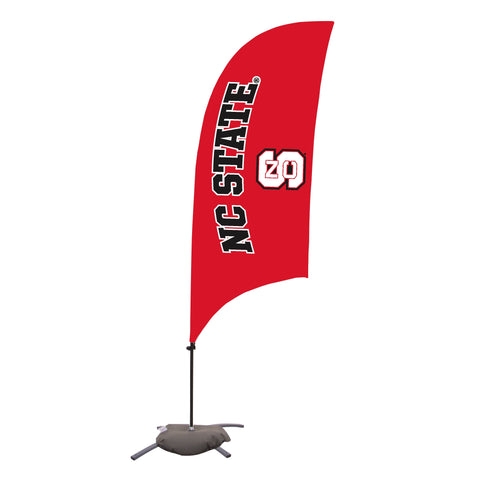 North Carolina State Wolfpack 7.5 Ft. Razor Feather Flag With Cross Base 002