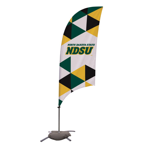 North Dakota State Bison 7.5 Ft. Razor Feather Flag With Cross Base 003