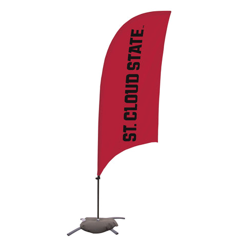 St. Cloud State Huskies 7.5 Ft. Razor Feather Flag With Cross Base 002