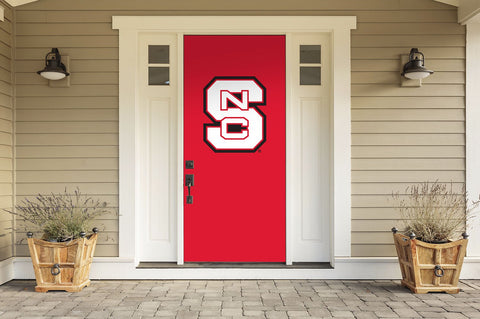 "North Carolina State Wolfpack 36"" X 80"" Front Door Decor 001"