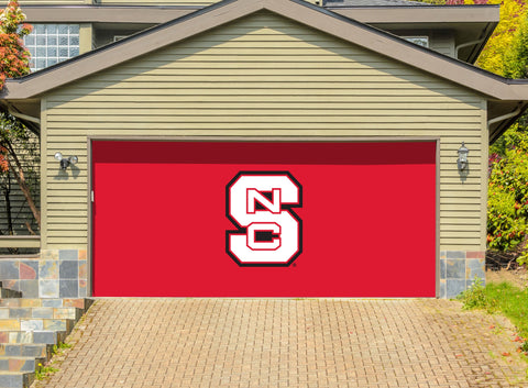 North Carolina State Wolfpack 7' X 16' Double Garage Door Decor 001