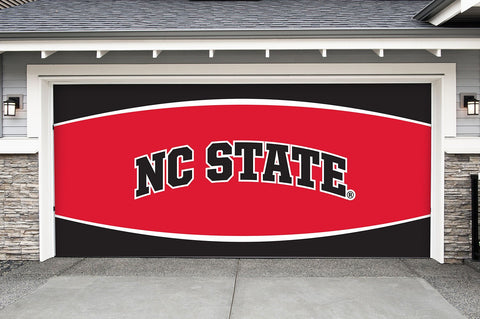 North Carolina State Wolfpack 7' X 16' Double Garage Door Decor 002