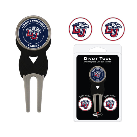 Liberty Flames Divot Tool Pack With 3 Golf Ball Markers
