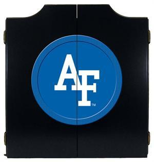 Air Force Dartboard Cabinet in Black Finish