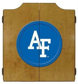 Air Force Dartboard Cabinet in Oak Finish