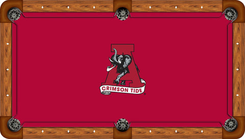 Alabama Crimson Tide Pool Table Felt Crimson with A Logo